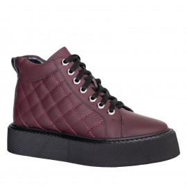 LORETTI Thick soled leather Chianti boots