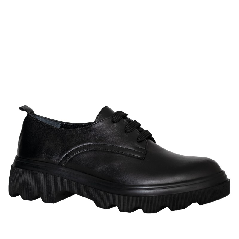 LORETTI Thick soled leather Carbone oxford shoes