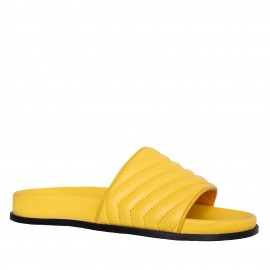 LORETTI Thick sole leather Mango slides