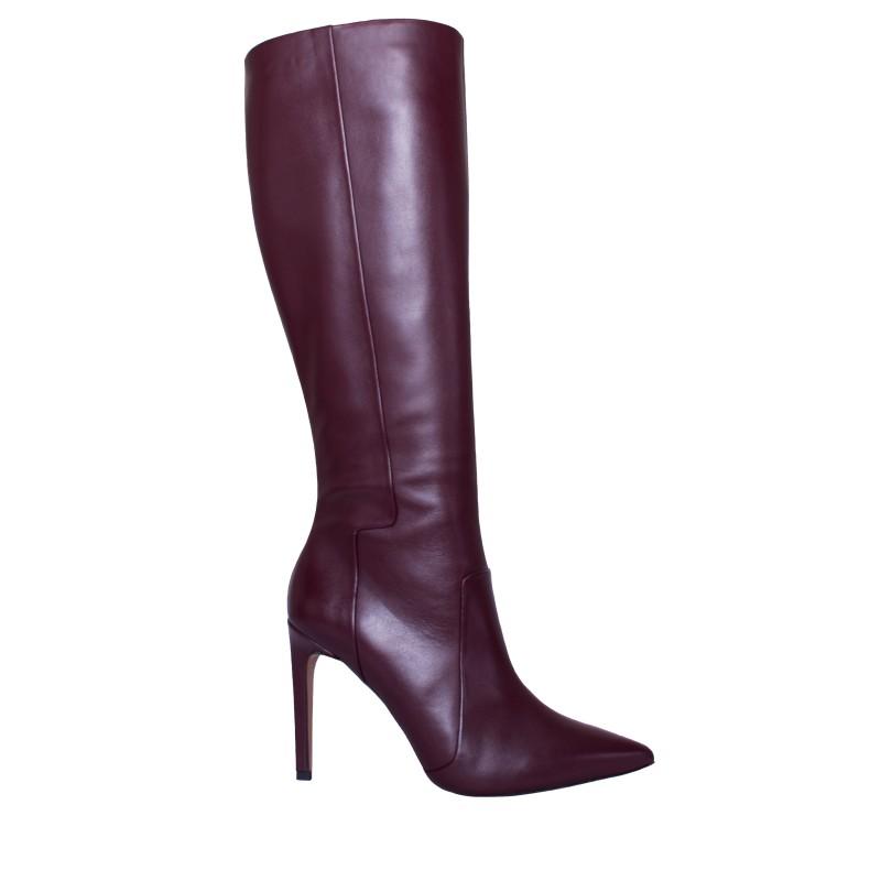 LORETTI High heel leather Chianti high boots