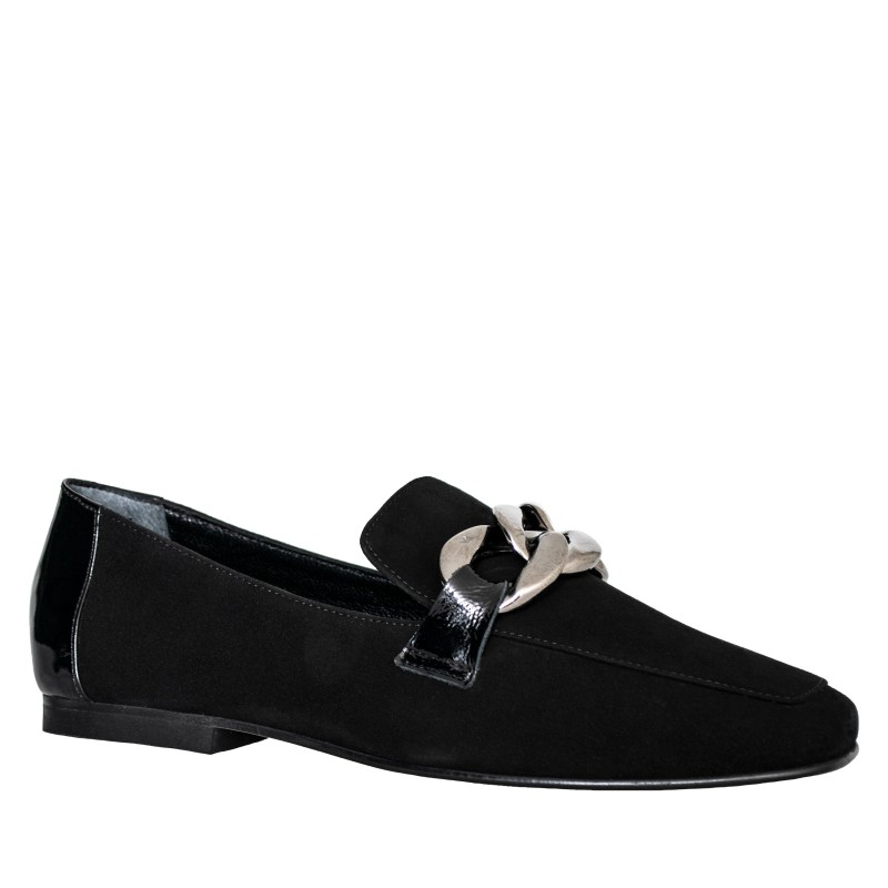 LORETTI Black suede Carbone Loafer shoes