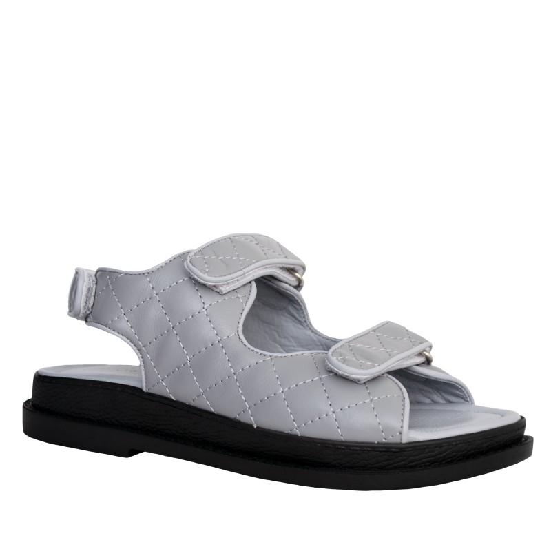 LORETTI Thick sole leather Grigio sandals