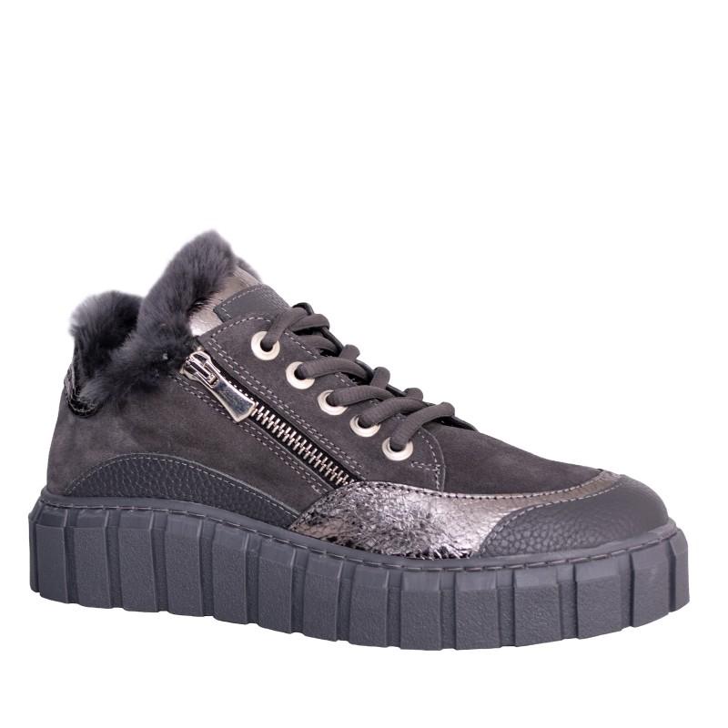 LORETTI Gray suede Grigio sport shoes