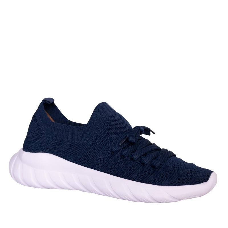 LORETTI  Elastic textile Blu Notte sport shoes