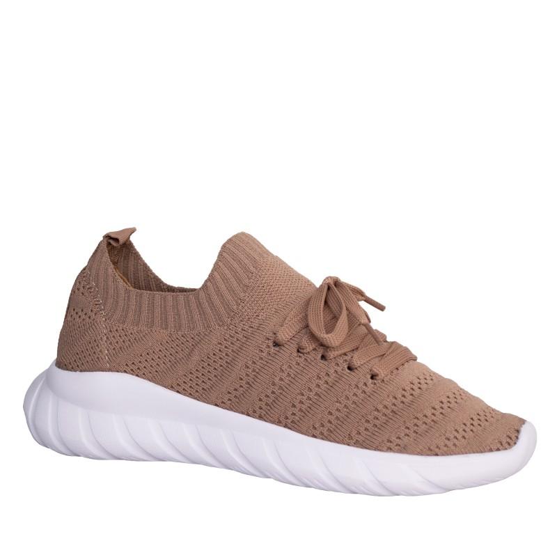 LORETTI Elastic textile Cappuccino sport shoes