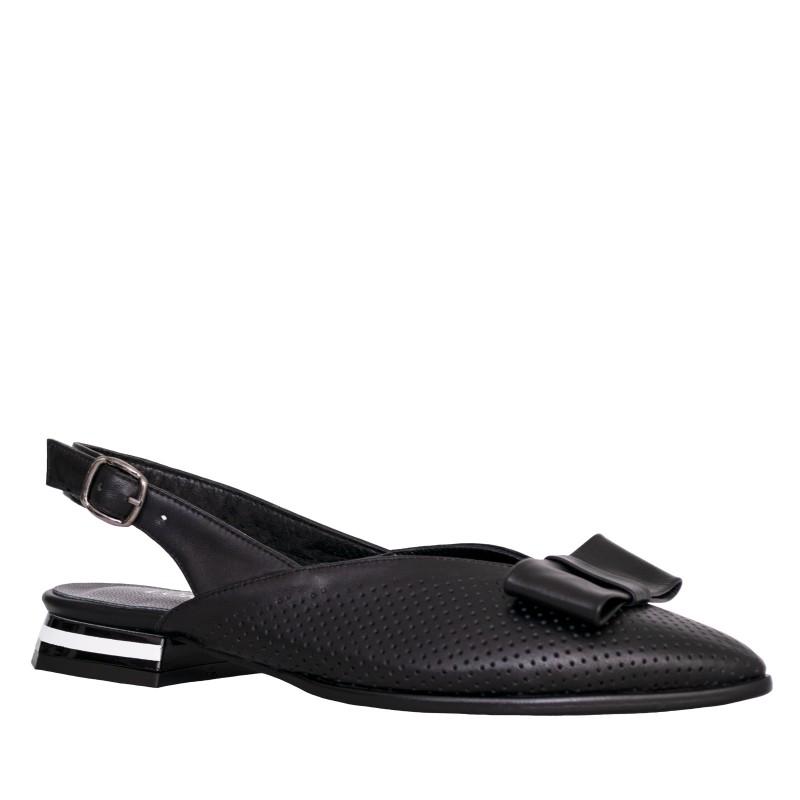LORETTI Low heel Carbone slingbacks