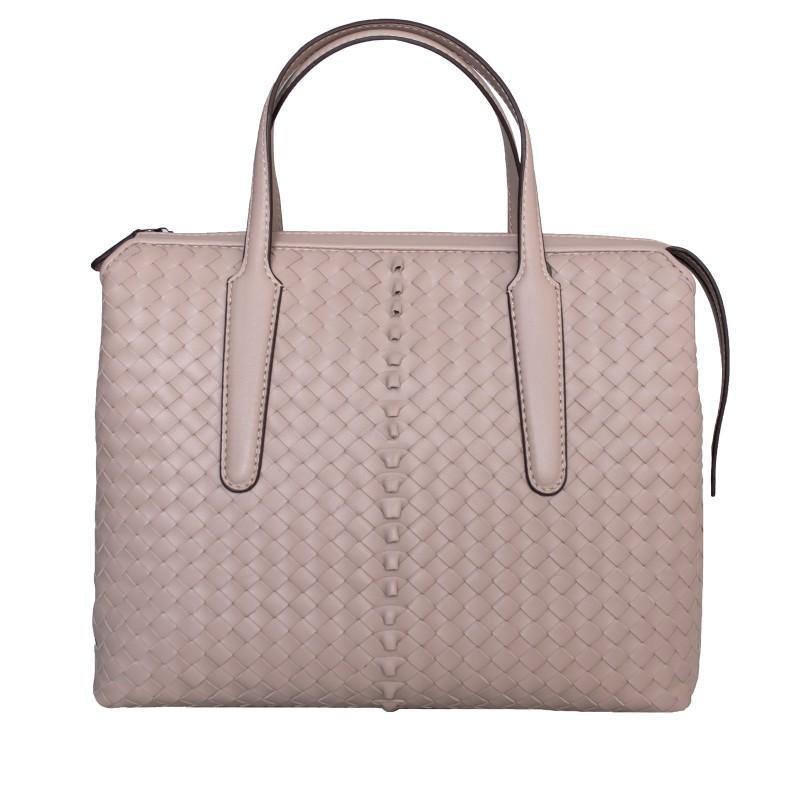 LORETTI Large beige leather Cream bag