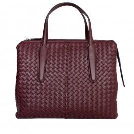 LORETTI Large bordo leather Burgundy bag