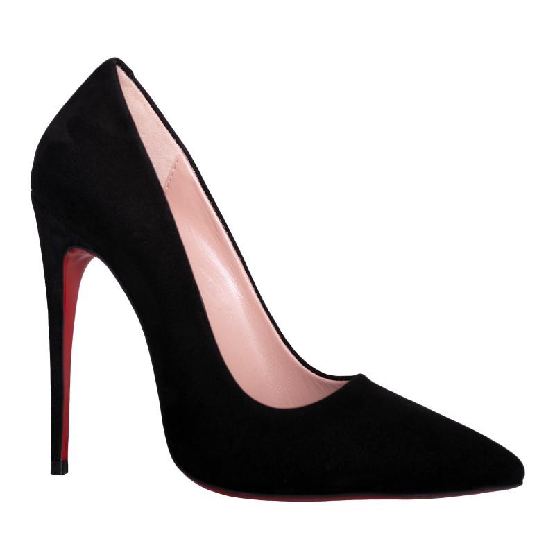 LORETTI High heel suede Carbone pumps