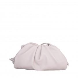 LORETTI Small leather Crema shoulder bag