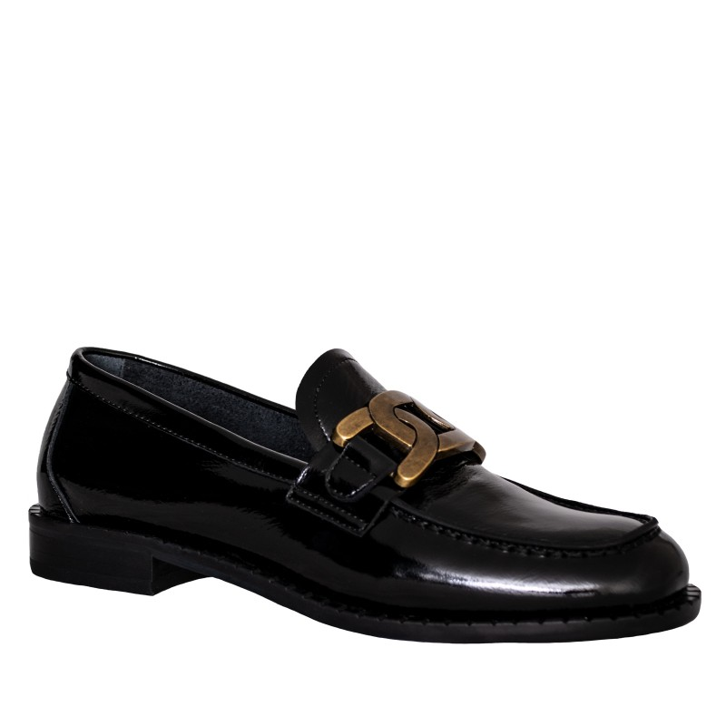 LORETTI Patent leather Carbone loafer shoes