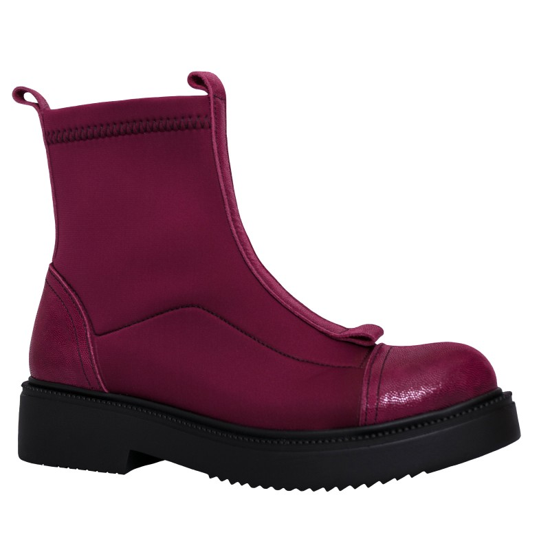 LORETTI Leather and elastic textile Chianti thick soled boots