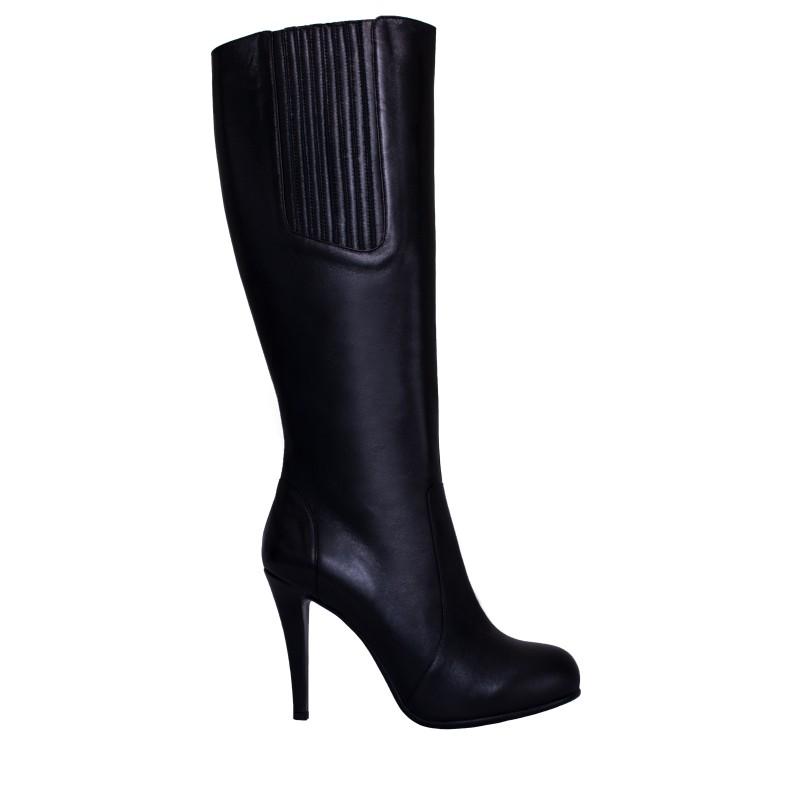 LORETTI High heel platform leather Carbone high boots